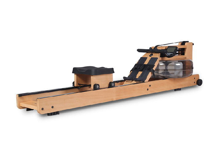 Durable Commercial Grade Gym Equipment , Solid Beech Material Waterrower Rowing Machine